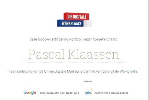 Online Digitale Marketing Google Certificaat